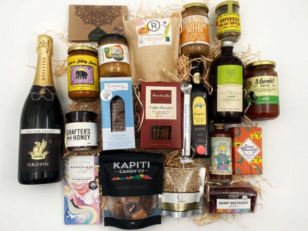 Wellington Region Gift Box with sparkling wine