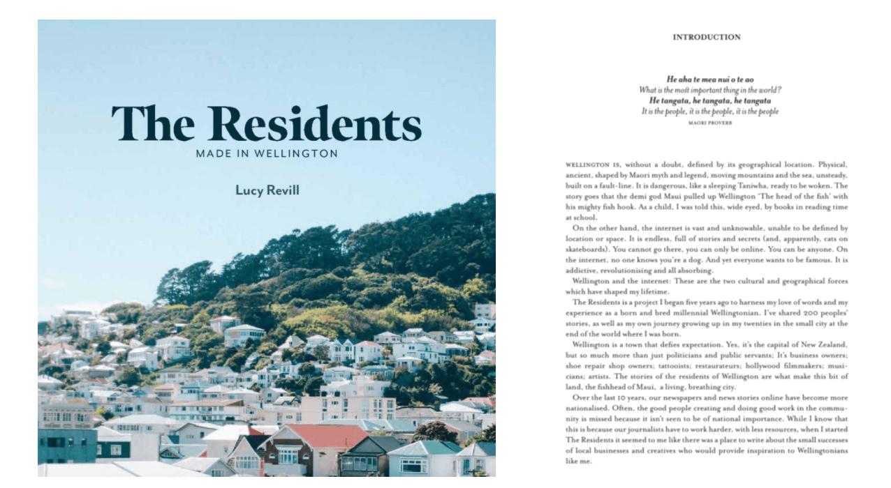Wellington Residents Book